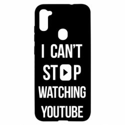 Чохол для Samsung A11/M11 I can't stop watching youtube