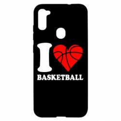 Чехол для Samsung A11/M11 I love basketball