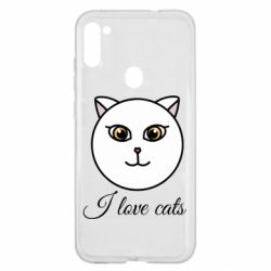Чохол для Samsung A11/M11 I love cats art