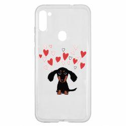 Чохол для Samsung A11/M11 I love dachshund