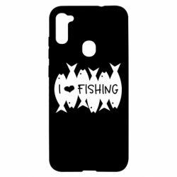 Чохол для Samsung A11/M11 I Love Fishing
