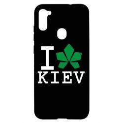 Чохол для Samsung A11/M11 I love Kiev - з листком