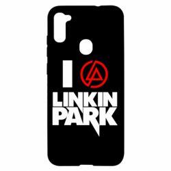 Чехол для Samsung A11/M11 I love Linkin Park