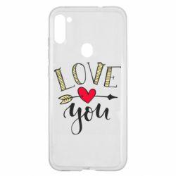 Чохол для Samsung A11/M11 I love you and heart