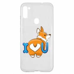 Чехол для Samsung A11/M11 I love you corgi