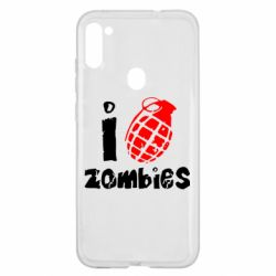 Чехол для Samsung A11/M11 I love zombies