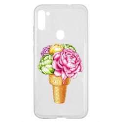 Чохол для Samsung A11/M11 Ice cream flowers