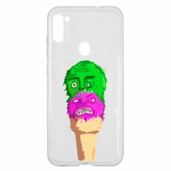 Чехол для Samsung A11/M11 Ice cream with face