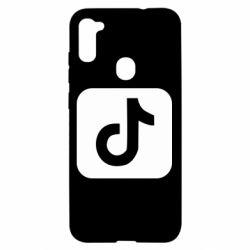 Чехол для Samsung A11/M11 Иконка тик ток