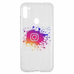 Чехол для Samsung A11/M11 Instagram spray