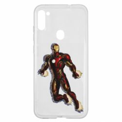 Чехол для Samsung A11/M11 Iron man with the shadow of the lines
