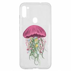 Чехол для Samsung A11/M11 Jellyfish and flowers