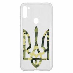 Чехол для Samsung A11/M11 Камуфляжный герб Украины