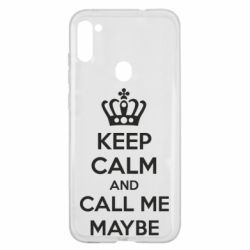 Чехол для Samsung A11/M11 KEEP CALM and CALL ME MAYBE