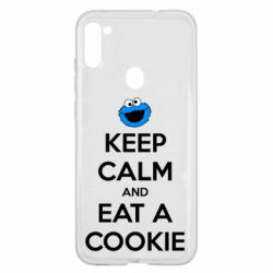 Чехол для Samsung A11/M11 Keep Calm and Eat a cookie
