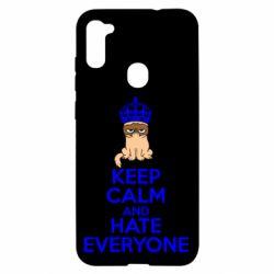 Чехол для Samsung A11/M11 KEEP CALM and HATE EVERYONE