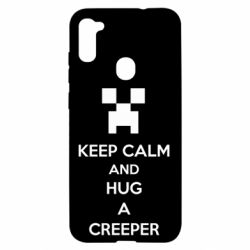 Чехол для Samsung A11/M11 KEEP CALM and HUG A CREEPER