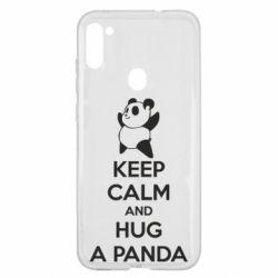 Чохол для Samsung A11/M11 KEEP CALM and HUG A PANDA