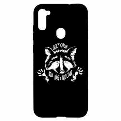 Чохол для Samsung A11/M11 Keep calm and hug a raccoon
