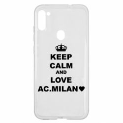 Чохол для Samsung A11/M11 Keep calm and love AC Milan