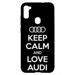 Чехол для Samsung A11/M11 Keep Calm and Love Audi