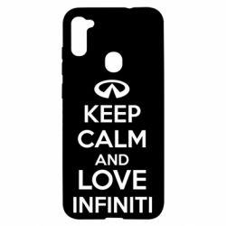 Чехол для Samsung A11/M11 KEEP CALM and LOVE INFINITI