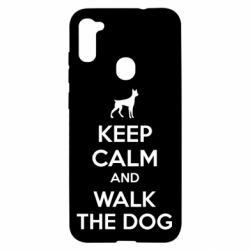 Чохол для Samsung A11/M11 KEEP CALM and WALK THE DOG