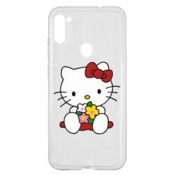 Чехол для Samsung A11/M11 Kitty с букетиком