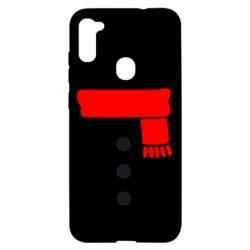 Чохол для Samsung A11/M11 Костюм сніговика