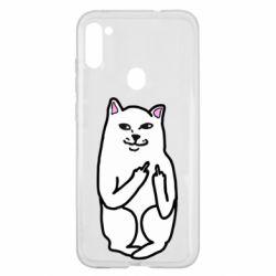 Чехол для Samsung A11/M11 Кот с факом