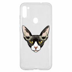 Чохол для Samsung A11/M11 Котя сфінкс жовті очі