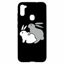 Чохол для Samsung A11/M11 Кролики