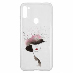 Чехол для Samsung A11/M11 Lady in a hat