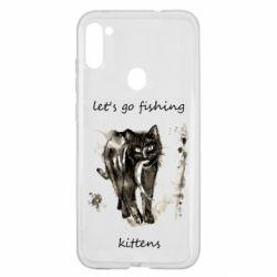 Чехол для Samsung A11/M11 Let's go fishing  kittens