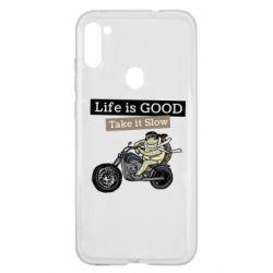Чохол для Samsung A11/M11 Life is good, take it show