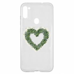 Чехол для Samsung A11/M11 Lilies of the valley in the shape of a heart