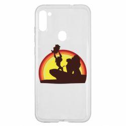 Чехол для Samsung A11/M11 Lion king silhouette