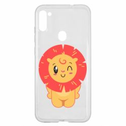 Чехол для Samsung A11/M11 Lion with orange mane