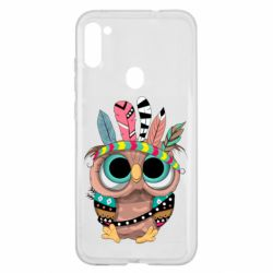 Чохол для Samsung A11/M11 Little owl with feathers