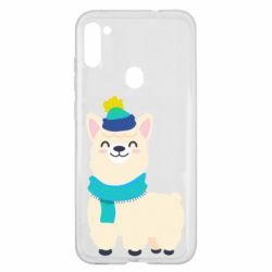 Чехол для Samsung A11/M11 Llama in a blue hat