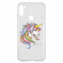 Чохол для Samsung A11/M11 Кінь з кольоровою гривою