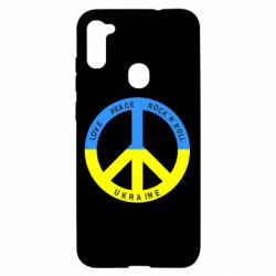 Чехол для Samsung A11/M11 Love,peace, rock'n'roll, Ukraine