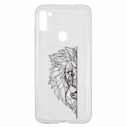 Чохол для Samsung A11/M11 Low poly lion head