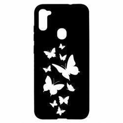 Чохол для Samsung A11/M11 Many butterflies