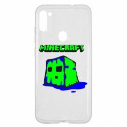 Чохол для Samsung A11/M11 Minecraft Head