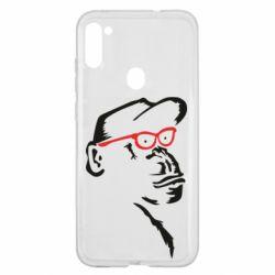 Чохол для Samsung A11/M11 Monkey in red glasses