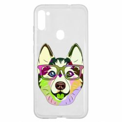 Чохол для Samsung A11/M11 Multi-colored dog with glasses