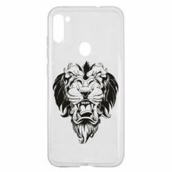 Чехол для Samsung A11/M11 Muzzle of a lion