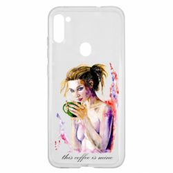 Чехол для Samsung A11/M11 Naked girl with coffee