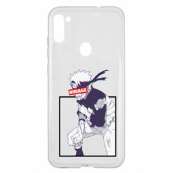 Чехол для Samsung A11/M11 Naruto Hokage glitch